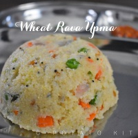 Wheat Rava Upma | Samba Godhuma Rava Upma | Healthy Vegetable Broken Wheat Upma