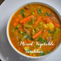 Mixed Vegetable Sambhar | Easy and Healthy Carrot Potato Beans Sambhar