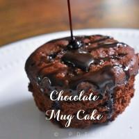 Eggless Chocolate Mug Cake | 1 Minute Microwave Mug Cake